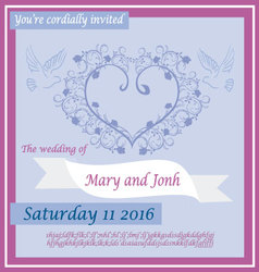 wedding invitation 2 vector image
