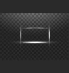 white frame with lights effects shining luxury vector image