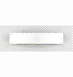 white paper with gold confetti background vector image