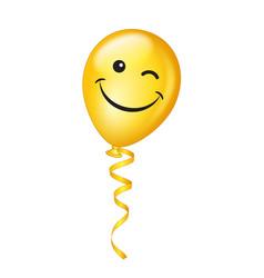 winking emoji balloon vector image