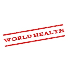 World Health Watermark Stamp vector image