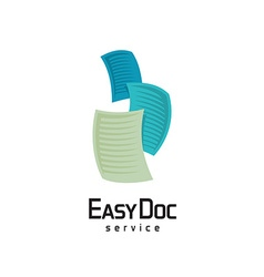 Docs logo flying sheets of paper vector