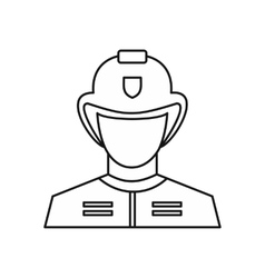 Fireman icon outline style vector image