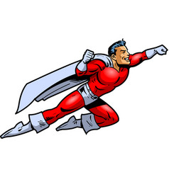 flying superhero clipart cartoon vector image vector image