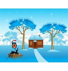 Lodge in wood vector image vector image