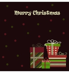 Meery Christmas background with gifts vector image