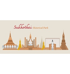 Sukhothai Historical Park Thailand vector image vector image