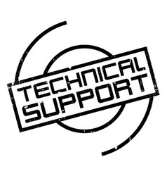 technical support rubber stamp vector image vector image