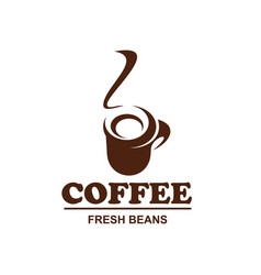coffe cup icon for coffeeshop cafe design vector image