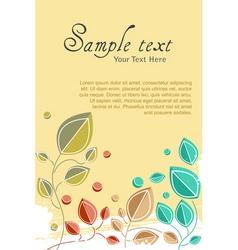 natural card vector image