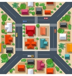 Seamless pattern urban vector image vector image