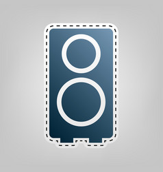 speaker sign blue icon with vector image vector image