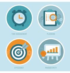 Time management concepts in flat style vector