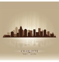 Charlotte North Carolina skyline city silhouette vector image