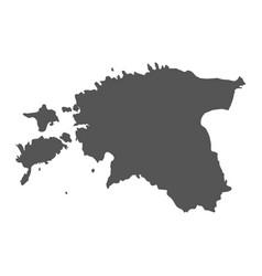 Estonia map black icon on white background vector