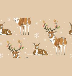 hand drawn abstract cartoon wildlife vector image