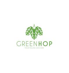 hop logo vector image vector image