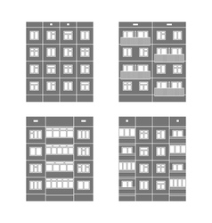 Panel houses set1 vector image