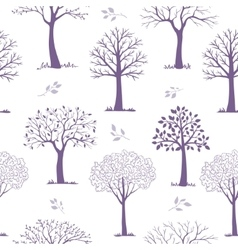 seamless pattern trees vector image vector image