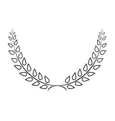 sign laurel wreath mono 103 vector image vector image