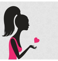 young woman in love vector image vector image