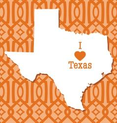 Modern trellis pattern texas card vector