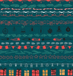 Set of Christmas and decorative elements Gifts vector image