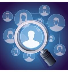 social media networking concept vector image vector image
