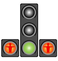 Traffic lights for pedestrians vector image vector image