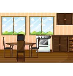 A clean dining room vector