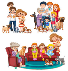 A set big family vector