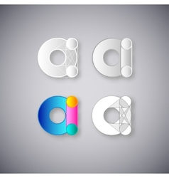Abstract Combination of Letter A vector