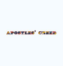 Apostles creed concept word art vector