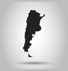 Argentina map black icon on white background vector