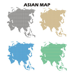 Asian map vector