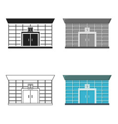 Bank icon cartoon single building icon from the vector
