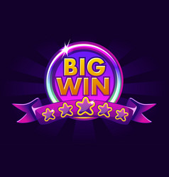 big win banner background for online casino poker vector image