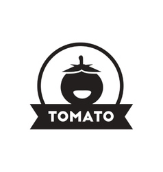 Black icon on white background tomato vector