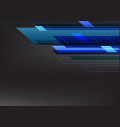 blue tone abstract square technology black vector image