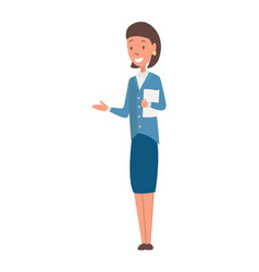 character teacher profession woman worker vector image