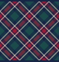 check plaid diagonal fabric texture seamless vector image