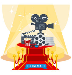 cinema on red carpet vector image