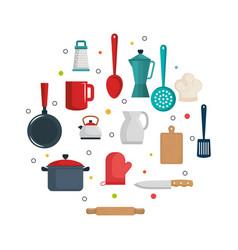colorful kitchenware design vector image