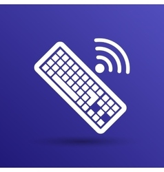Computer keyboard key sign icon vector image vector image