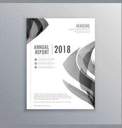 Corporate business annual report brochure template vector