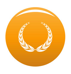 Crown wreath icon orange vector