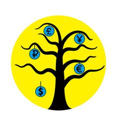 currency tree vector image