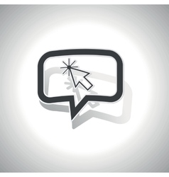 Curved arrow cursor message icon vector
