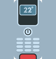 Digital climate remote control icon flat isolated vector