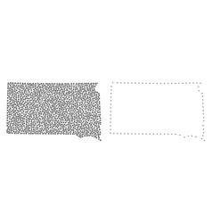 Dot contour map of south dakota state vector